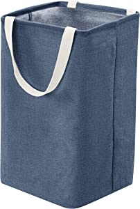 AmazonBasics Fabric Storage Bin Basket - Tall Cube, Navy Blue