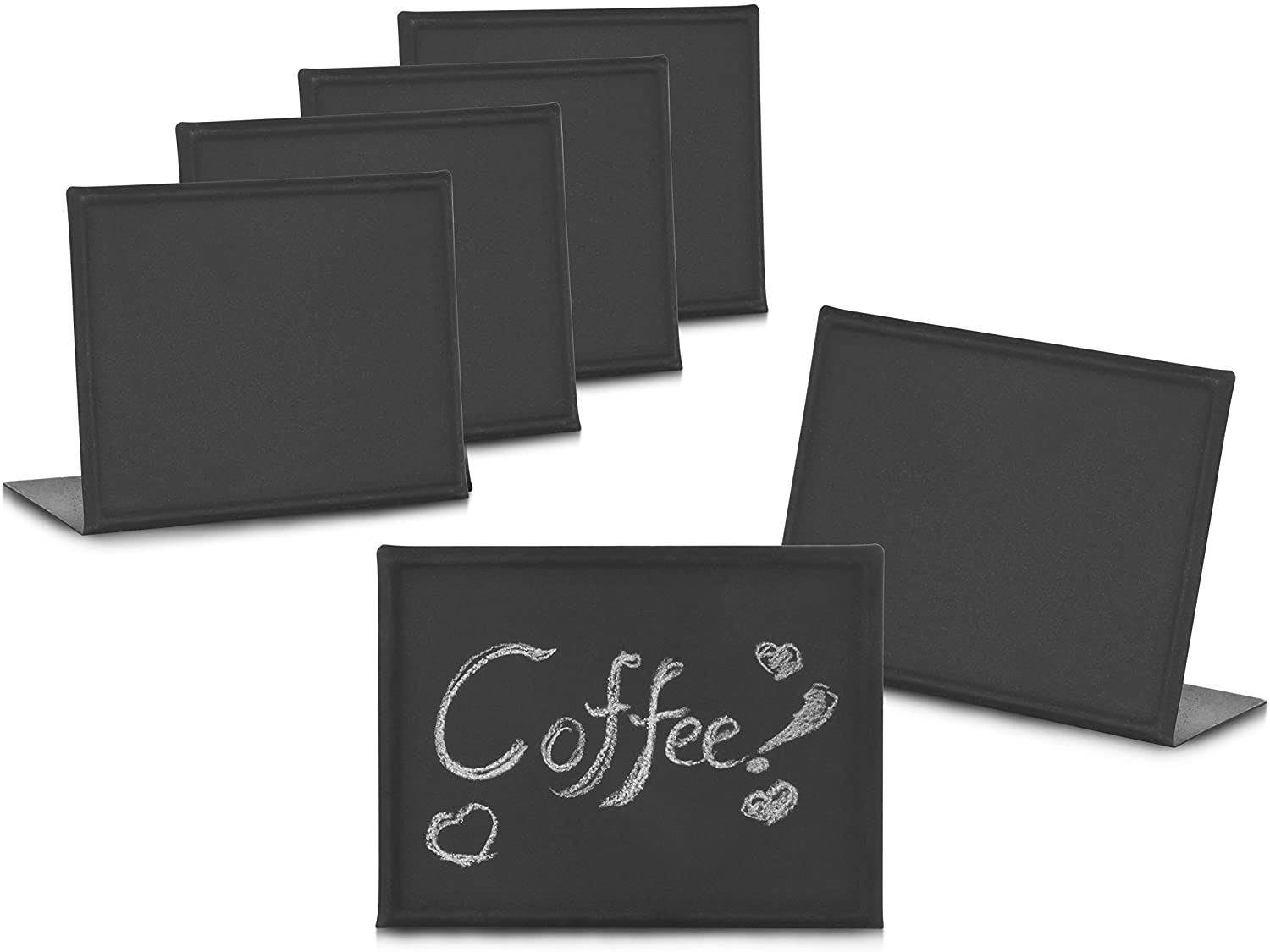New Star Foodservice 28669 Metal Mini Chalkboards, 3 by 4-Inch, Set of 6