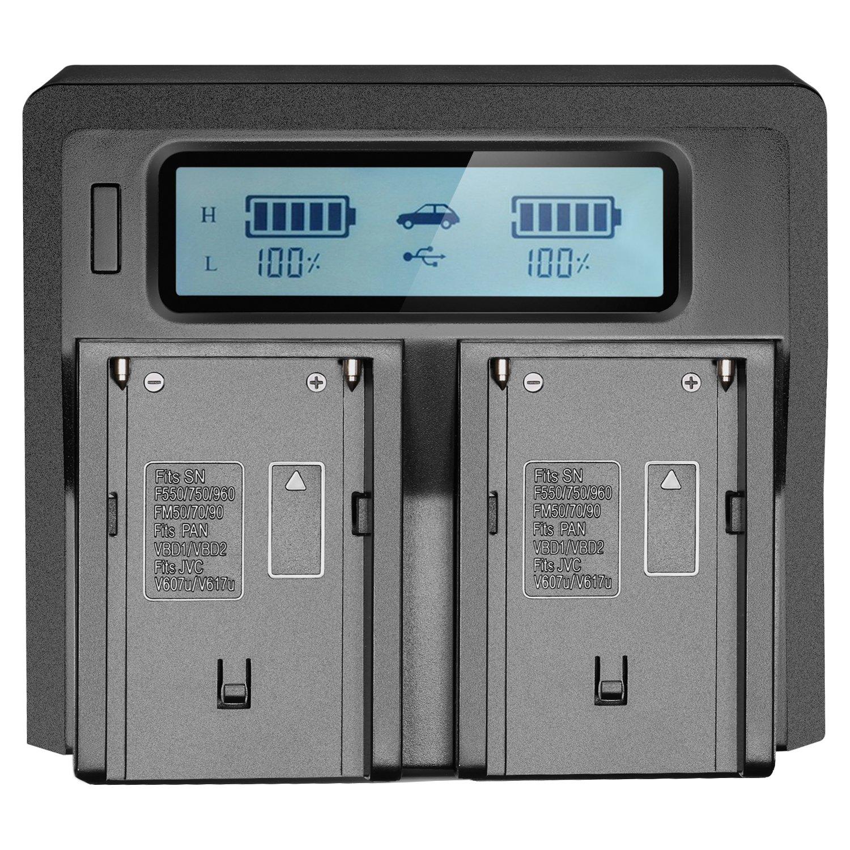 FW50 Neewer Double LCD Chargeur de Batterie