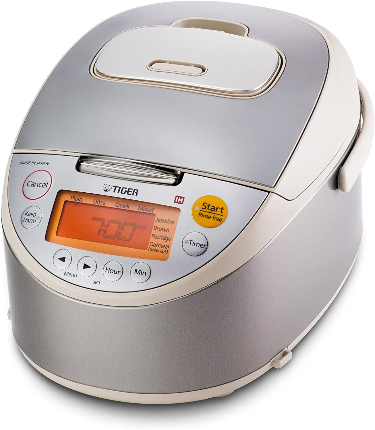 Tiger JKT-B10U-C 5.5-Cup Stainless Steel Rice Cooker, Beige