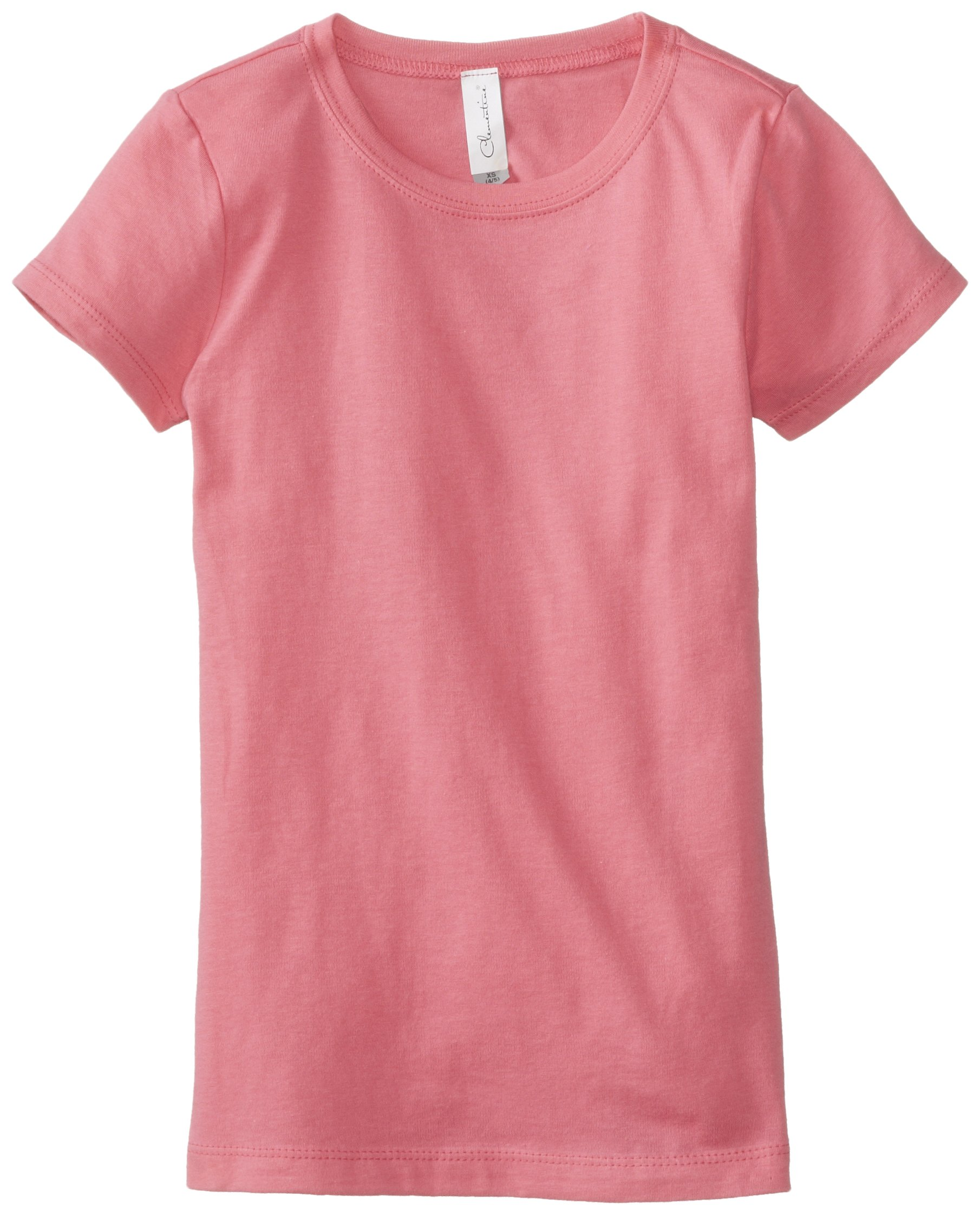 Clementine Big Girls' Everyday T-Shirt, Hot Pink, Large(10-12)