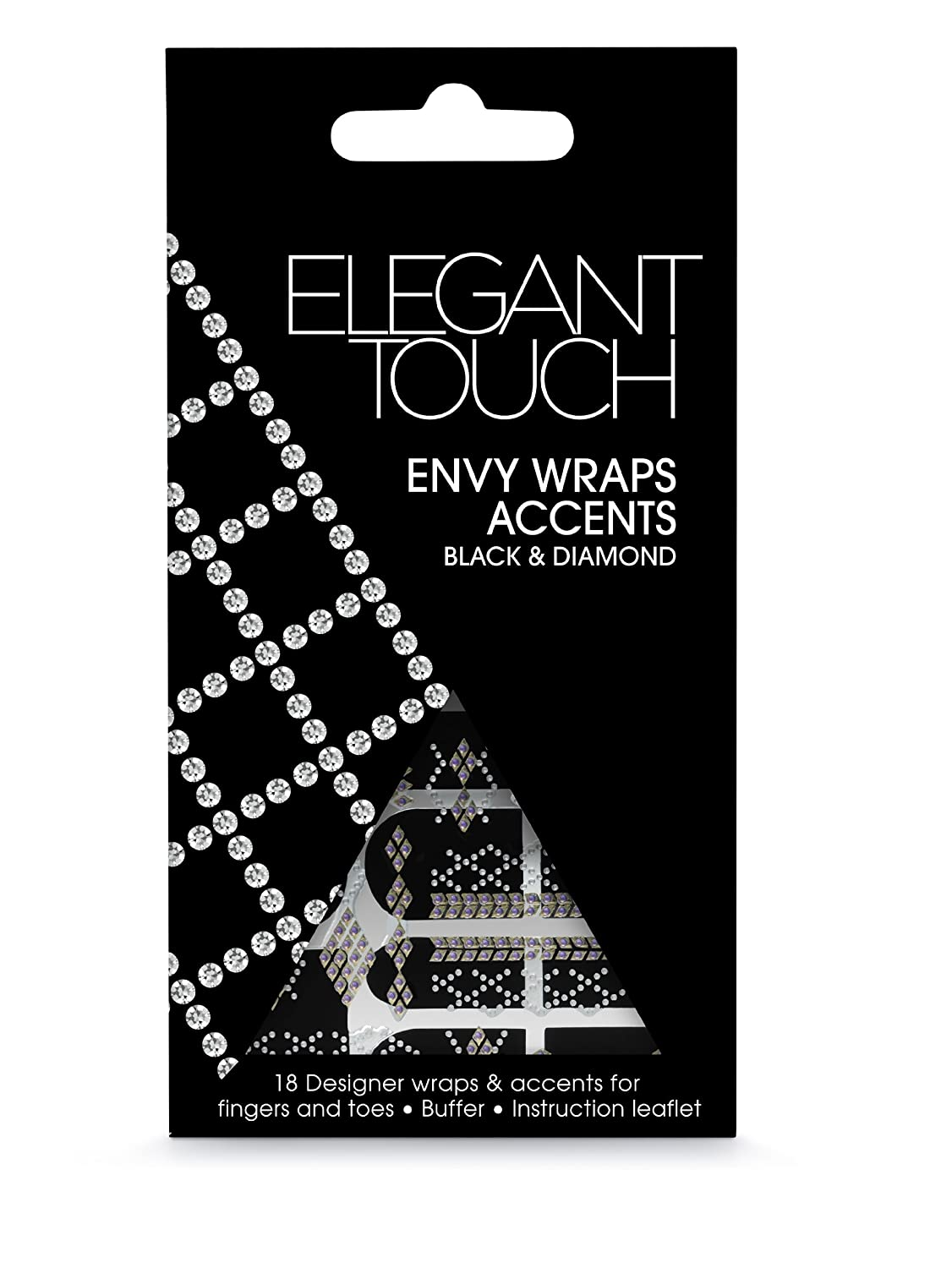 Elegant Touch Envy Wraps Self Adhesive Black and Diamond Accents Original Additions 4035252