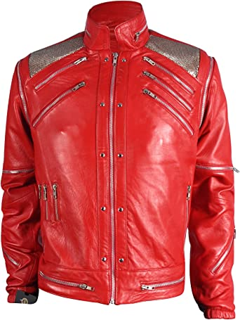 Beat it Michael Jackson Red Leather Jacket