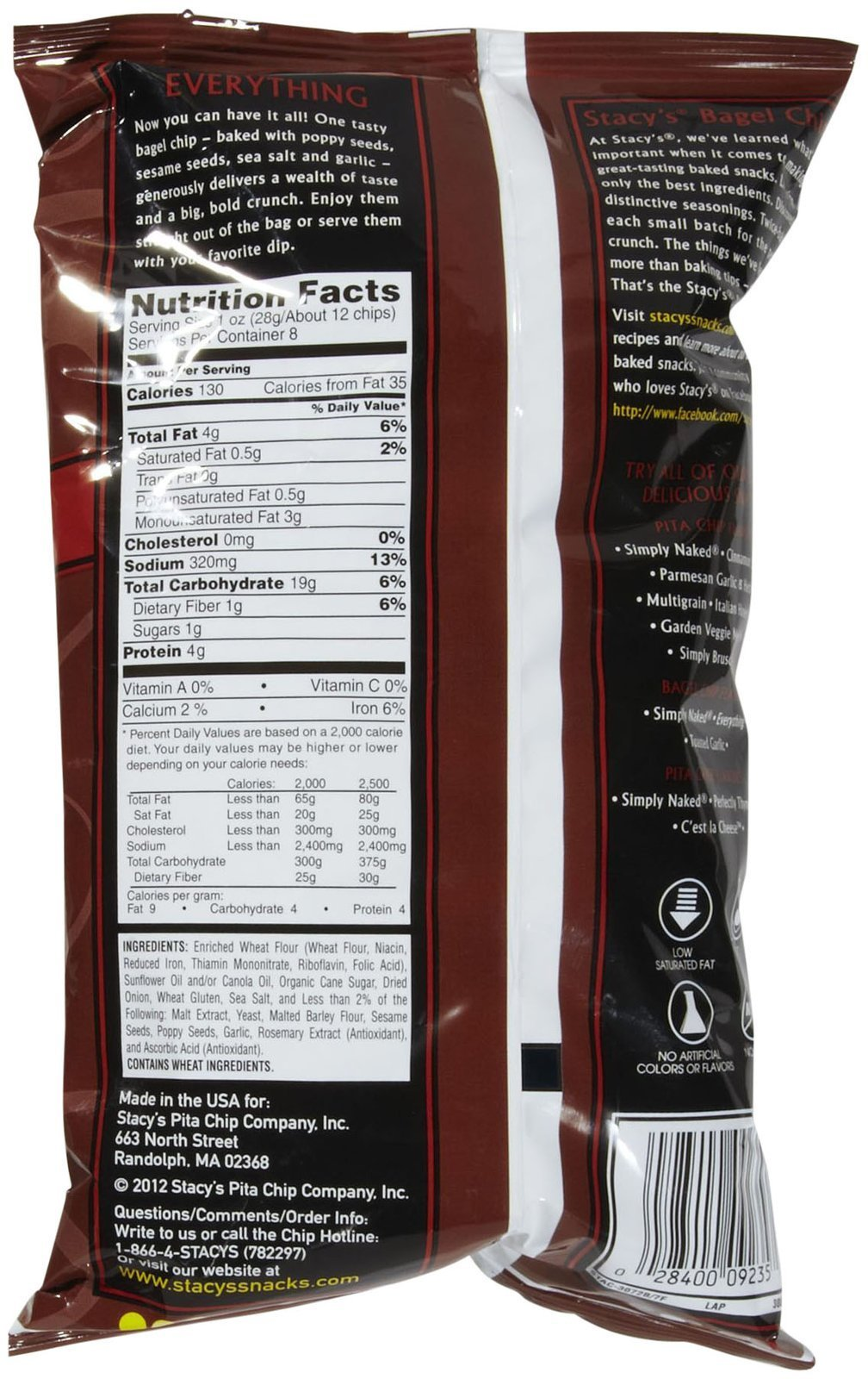 Stacy's Pita Chips Everything Bagel Chips - 8 oz by Stacy's (Image #2)