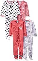 Gerber Baby Girls' 4 Pack Variety Sleep 'n Play