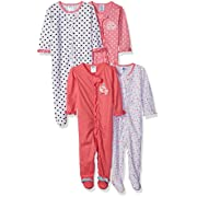 Gerber Baby Girls' 4 Pack Sleep 'n Play, Elephant/Birdie, 3-6 Months