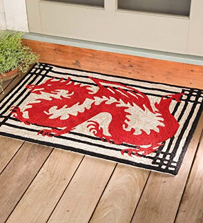 Amazon Com Red Dragon Indoor Outdoor Rug 36 L X 24 W Inches