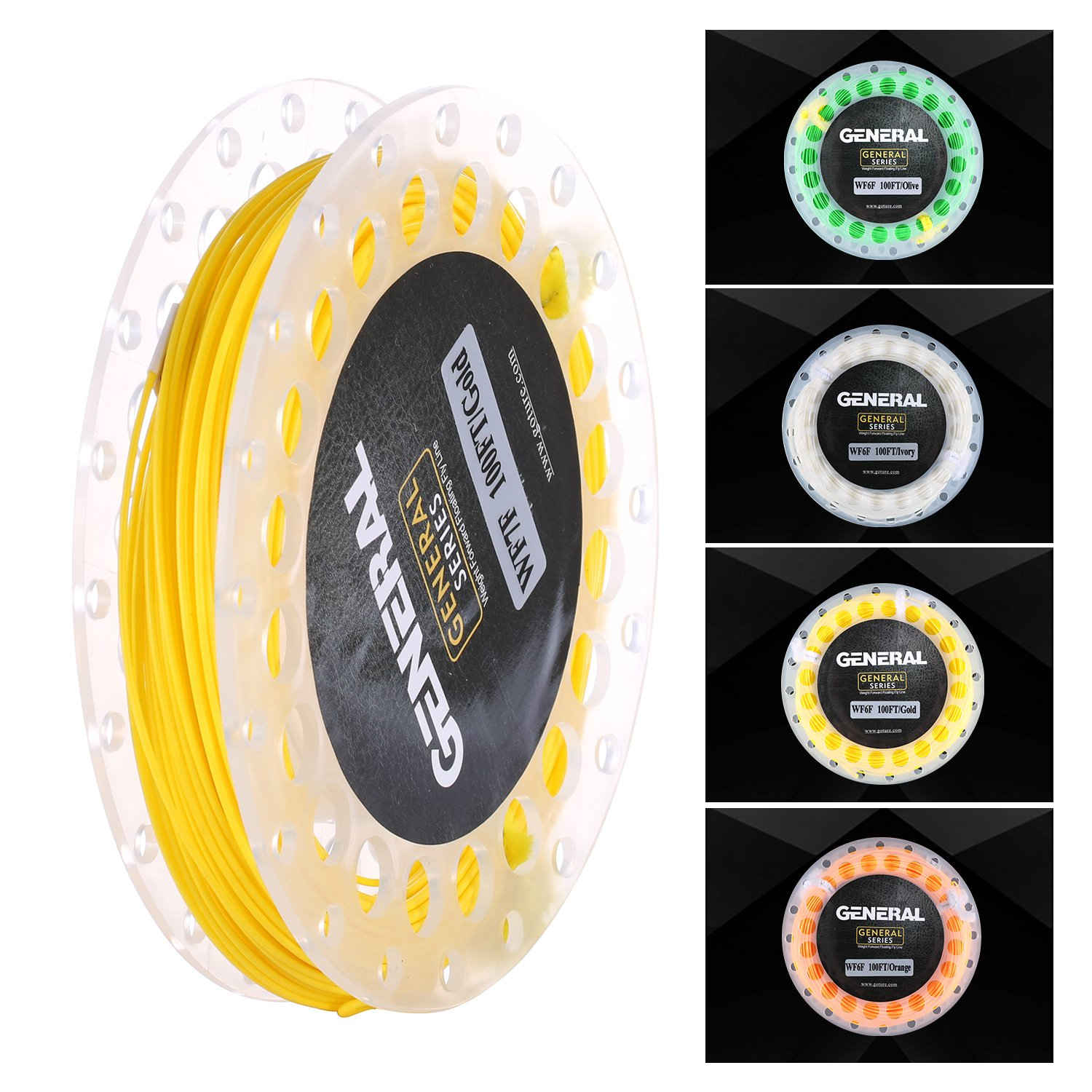 Goture Floating Fly Fishing Line with Welded Loops Weight Forward WF3 4 5 6 7 8WF 100FT