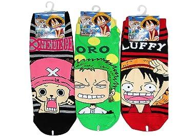 3 Pair Assorted One Piece Anime Calcetines Medias (Size 6-8) - Kids Cartoon Socks: Amazon.es: Juguetes y juegos