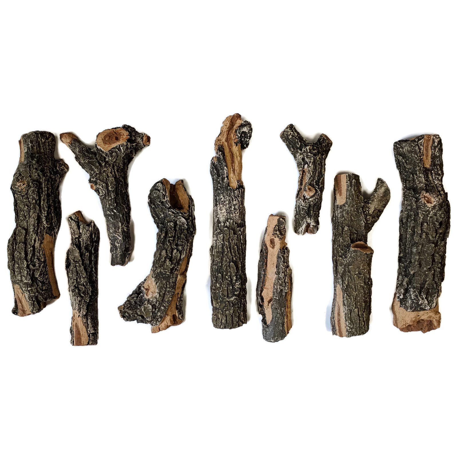 Midwest Hearth Deluxe Decorative Branch and Twig Set | Cast From Real Logs and Hand Painted in USA (Oak 9-Piece) by Midwest Hearth
