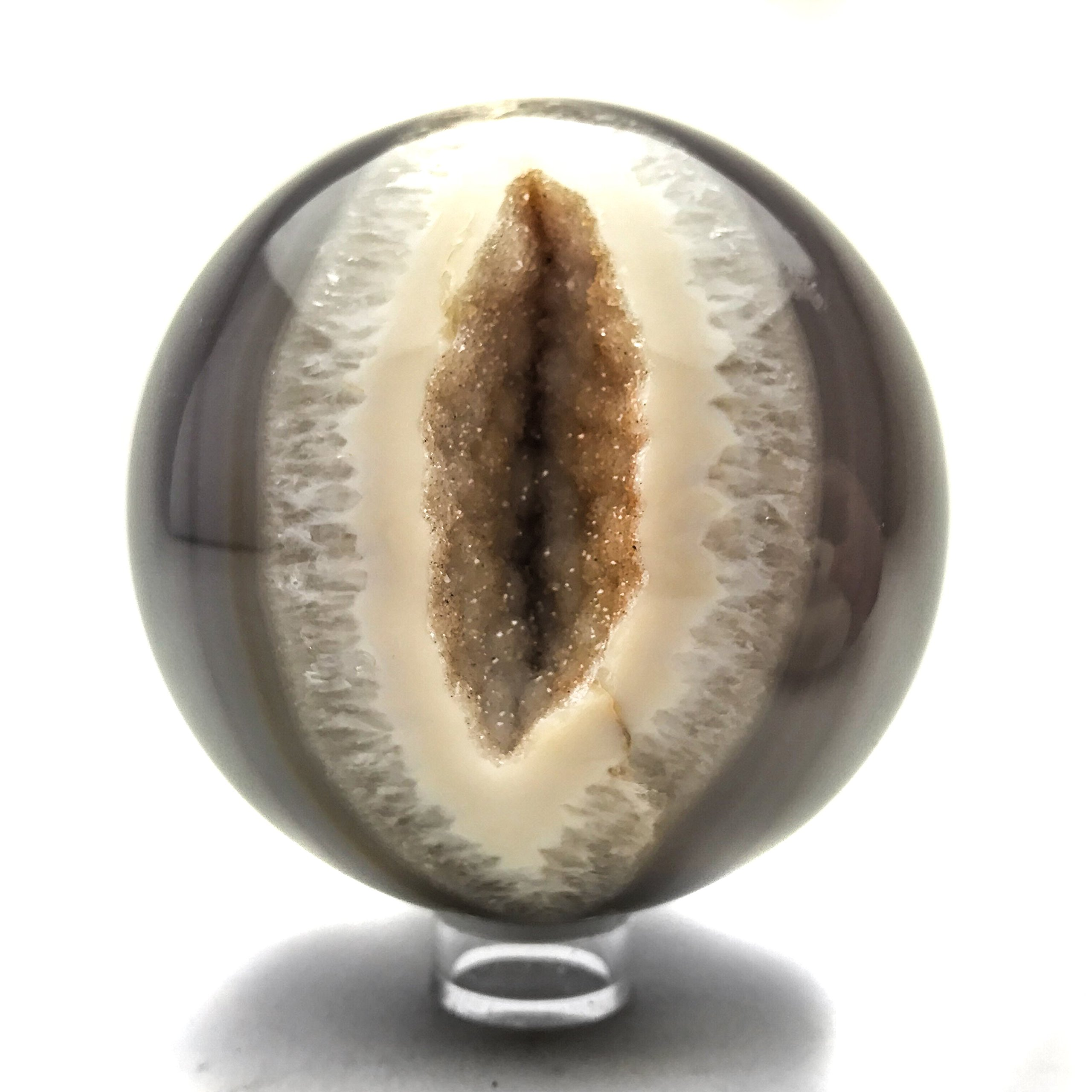 Astro Gallery Of Gems Natural Geode Agate Sphere (3.8'' diameter, 2.5 lbs) by Astro Gallery Of Gems