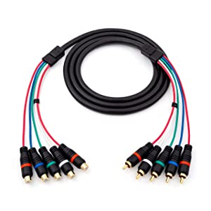 HD Retrovision YPbPr Component Video Female-to-Male RCA Extension Cable