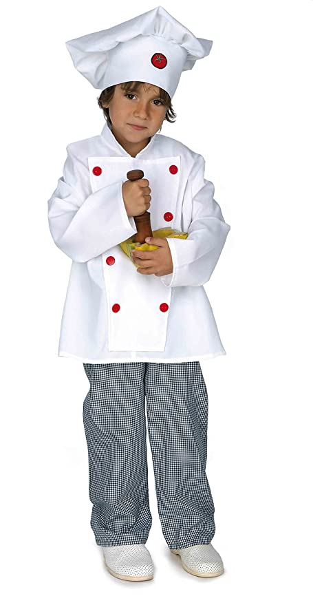 Disfraz cocinero infantil. Talla 5/6 años.: Amazon.es ...