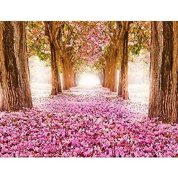 Fototapeten Wald Allee 352 x 250 cm Vlies Wand Tapete Wohnzimmer ...