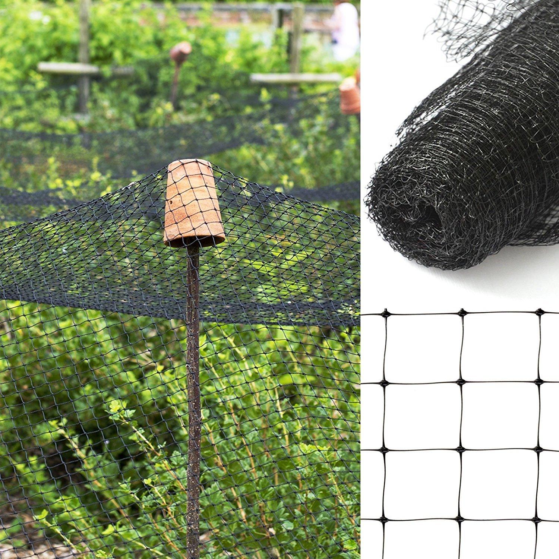 Casa Pura/® frutta rete anti-uccelli per giardino vigneti con maglia da 13/mm 4 dimensioni nero