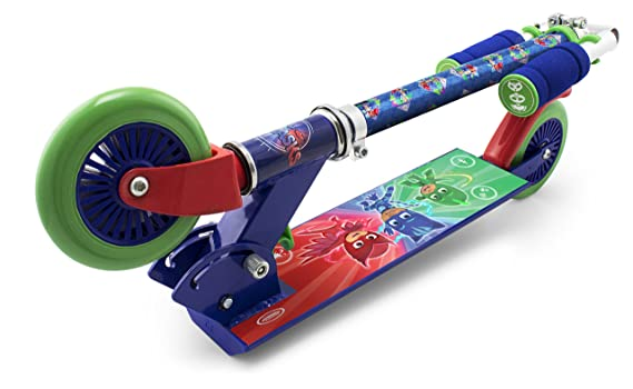 PJ Masks OPJM112 Kids Two Wheel Inline Foldable Scooter with Adjustable Handle