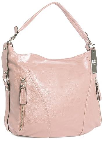 a3c09423a2 Big Handbag Shop Womens Top Zip Opening Plain Vegan Leather Multipurpose Zip  Effect Large Shoulder Bag