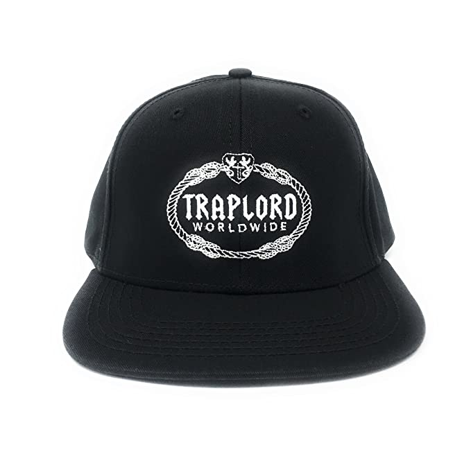 fdb21a0ea58 Trap Lord Men s Worldwide Crest Logo Snapback Hat O S Black  Amazon ...