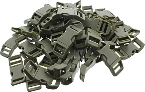 50-5//8 Inch Olive Drab Green Economy Contoured Side Release Plastic Buckles