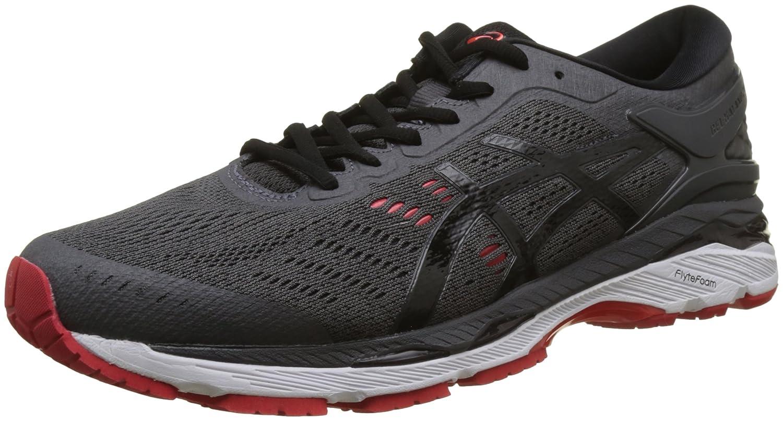 Asics Gel-Kayano 24 (2e), Zapatillas de Running Para Hombre 41.5 EU|Negro (Dark Grey/Black/Fiery Red 9590)