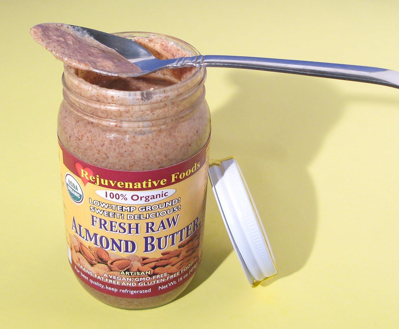 Fresh Raw - Mantequilla de almendra suave y cremosa pura ...