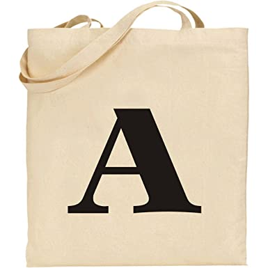 Alphabet Bag (Any Letter) - Natural Cotton Tote Bag: Amazon.co.uk ...