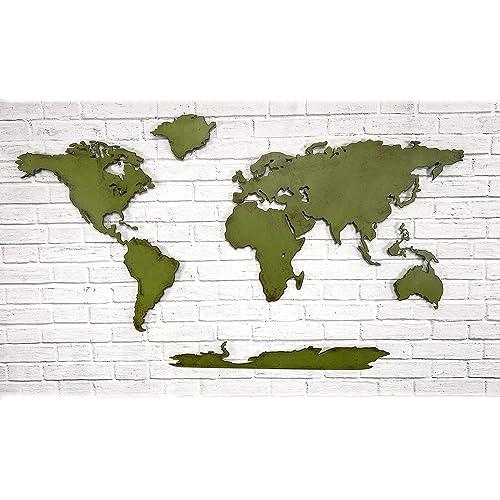 World Map - Metal Wall Art Home Decor - 30
