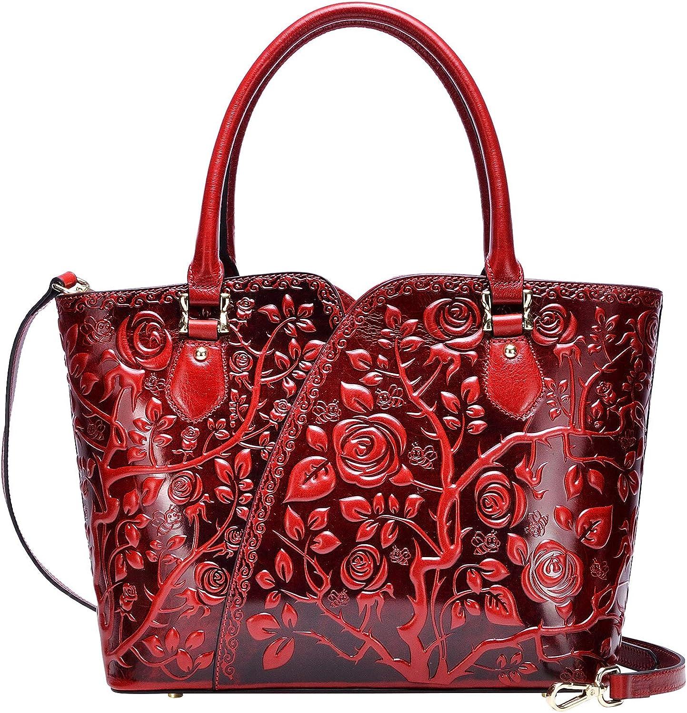 PIJUSHI Designer Handbags For Women Floral Purses Top Handle Handbags Satchel Bags