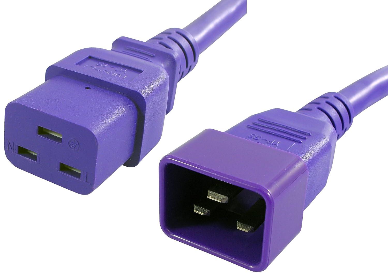 Lynn Electronics C19C2020APU-10F 20A / 250V 10フィート電源コードIEC 60320 C19IEC 60320 C20、紫   B00CBYQ6UQ