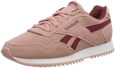 premium selection 4c28a 5d246 Reebok Royal Glide Ripple, Chaussures de Running Femme, Multicolore (Chalk  Pinkurba Maroon)