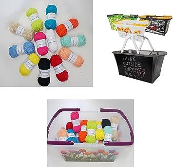 Einkaufskorb häkeln  24 Knäuel Baumwollgarn Wollpaket 1,2 kg Cotton Happy jede Farbe 2x ...