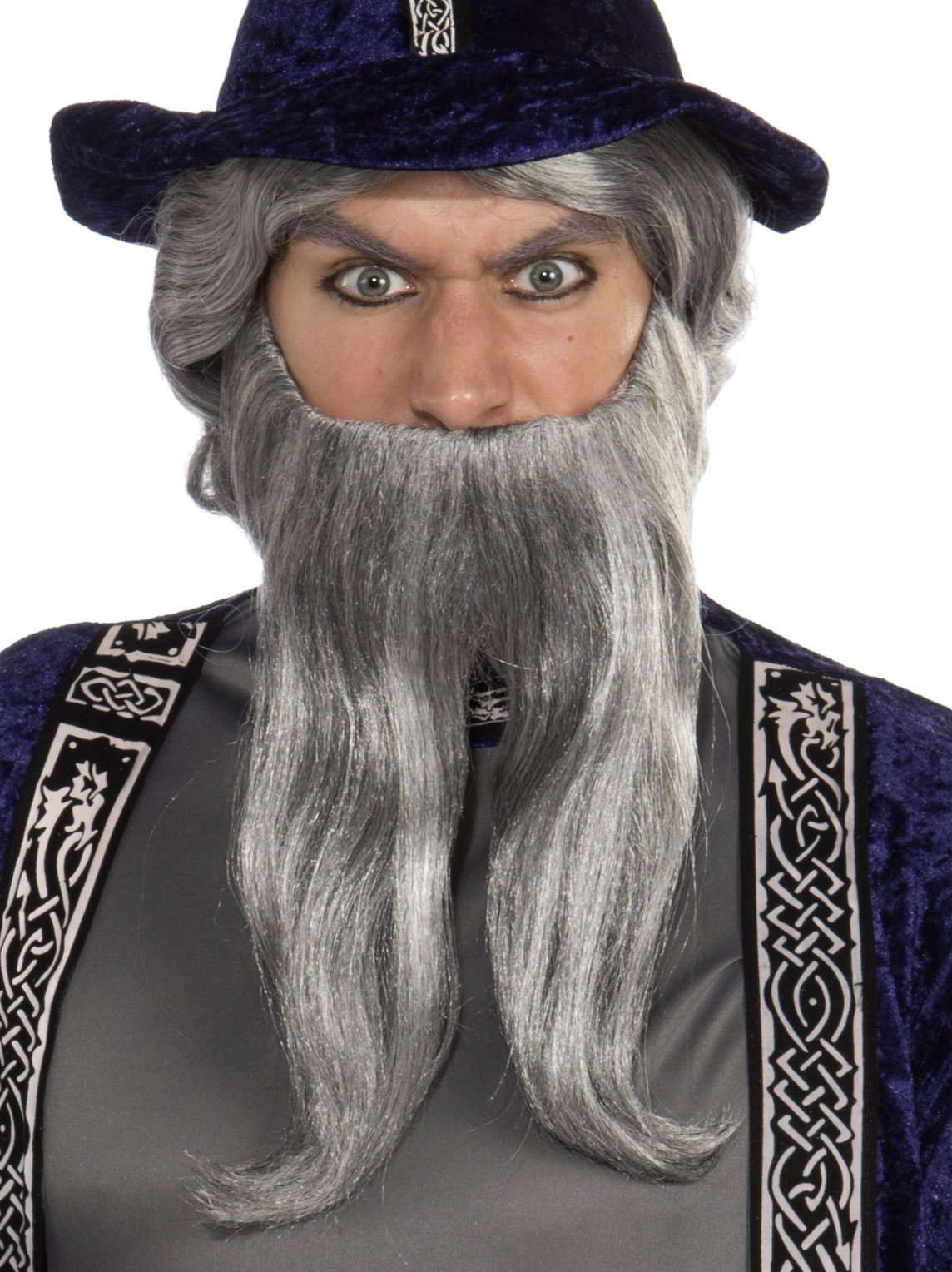 Forum Novelties Men's Novelty Forked Beard, Gray, One Size