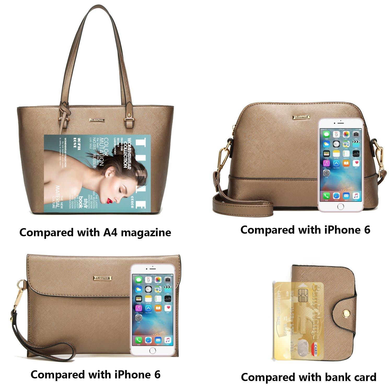ELIMPAUL Damen Handtaschen Schultertasche Geldbörse Kartenhalter Tasche Set 4pc B07DVB6RJF B07DVB6RJF B07DVB6RJF Umhngetaschen Stimmt b39d9b