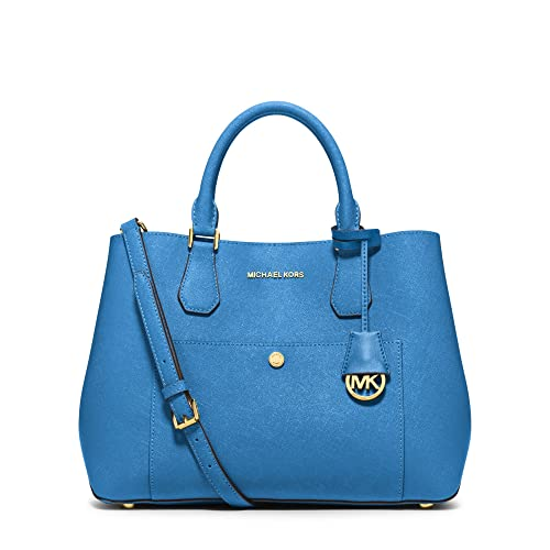 8b83f38b5943 MICHAEL Michael Kors Greenwich Large Leather Tote Bag in Heritage Blue   Amazon.co.uk  Shoes   Bags