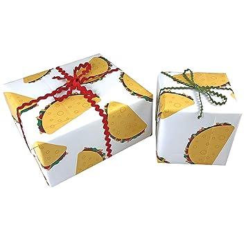 Amazon com: Taco Gift WRAP Paper - Funny Gift Wrap: Health