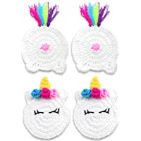 Buttsters Unicorn Butt Crochet Drink Coaster Set Funny Unicorn Gifts for Adults, Women, Your Coffee Mug or Cup