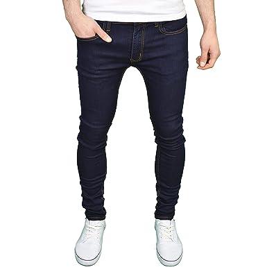 Soulstar Mens Boys Designer Branded Stretch Skinny Jeans Dark