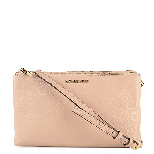 a155dba46213 MICHAEL by Michael Kors Adele Oyster Double Zip Crossbody Bag one size  Oyster  Amazon.co.uk  Shoes   Bags
