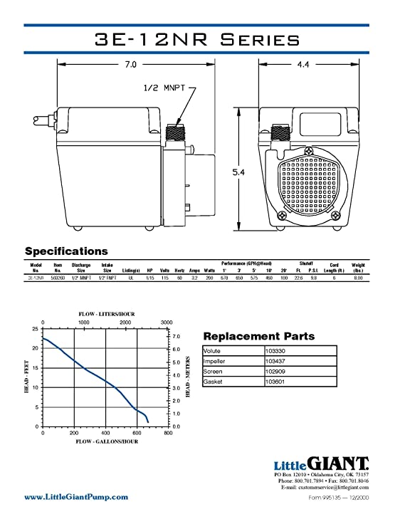 3e 34n Little Giant Pump Wiring Diagram - Electrical Drawing Wiring ...
