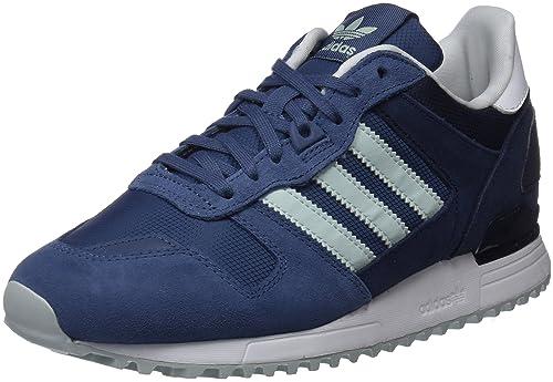 online store 5a754 ab433 Adidas ZX 700, Sneaker da Donna, colore Blu (Tech Ink vapour Green