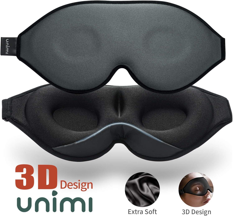 2020 Masque de sommeil et masque pour les yeux am/élior/és pour femmes et hommes masque pour les yeux doux en mat/ériau Lycra profil/é 3D lunettes de sommeil 100/% bloquant la lumi/ère pour les voyages