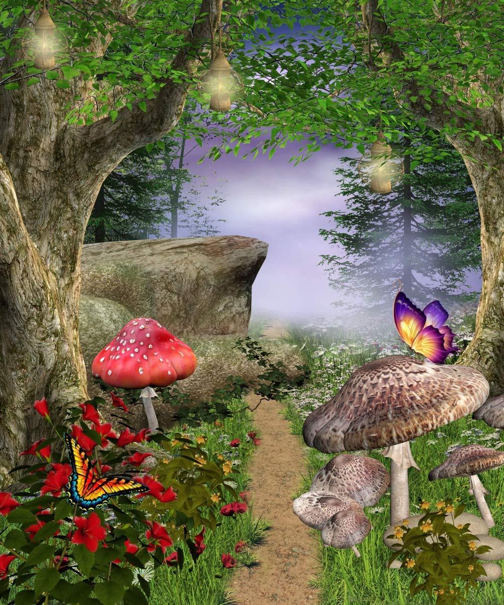 Gardenia 8 x 10フィート アニメ フェアリーテール 誕生日パーティー 装飾 写真クロス カスタマイズ写真 背景 パスウェイ マジックフォレスト 背景 写真スタジオ小道具 JY-852   B07JKKPZJ6