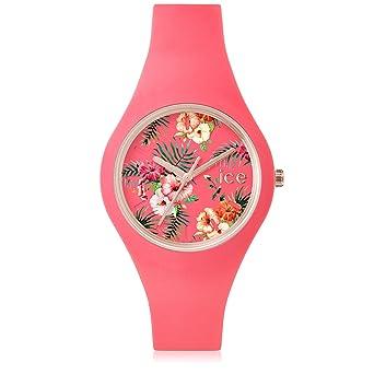 04789f19035c6 Ice-Watch - Ice Flower Delicious - Montre Rose pour Femme avec Bracelet en  Silicone