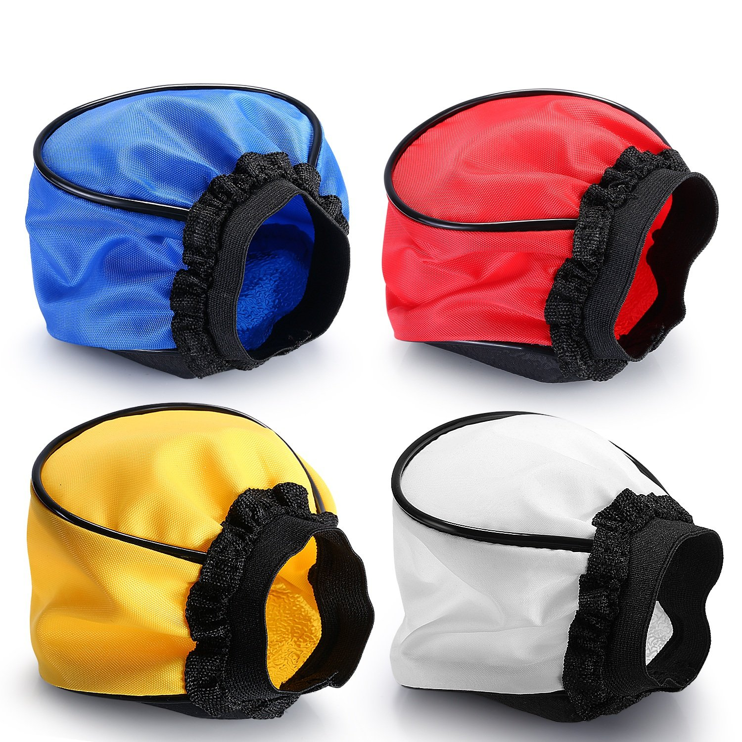 Neewer® Universal 4 Color Flash Diffuser Cloth 5 x 3.5 x 0.8in/12 x 9 x 2cm (Blue,Red,Yellow,White) for Cannon, Nikon, Neewer, Yunnuo, Altura, Other External Flash Units 10087203