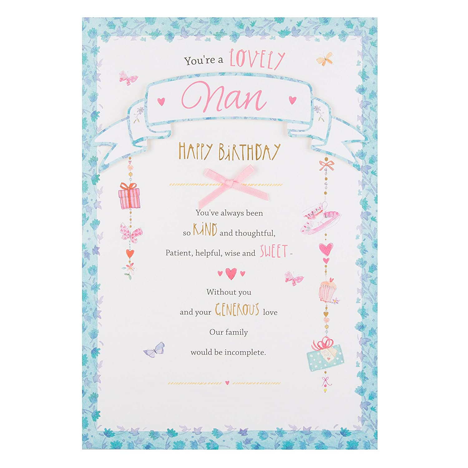 Hallmark Nan Birthday Card Kind And Sweet