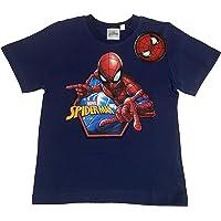 Camiseta de Spiderman de niño, de algodón, de manga corta, color azul
