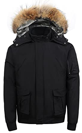 Amazon.com: Arctic Men's Winter Jacket,down Coat with Fur Lined ...