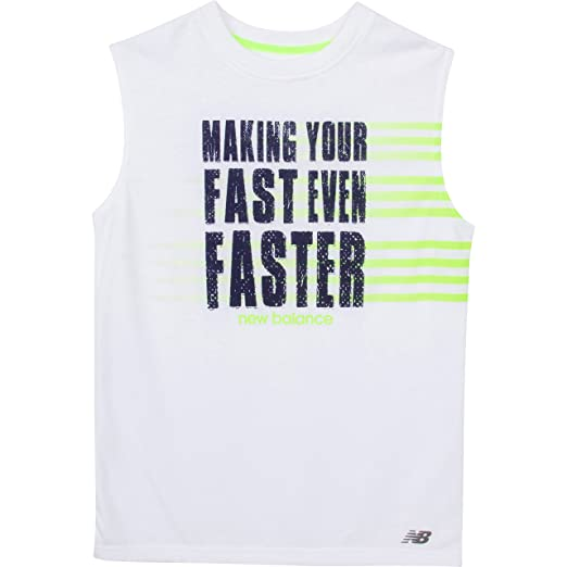387b3e5c6c24a5 Amazon.com  New Balance Big Boys  Sleeveless Graphic Tee
