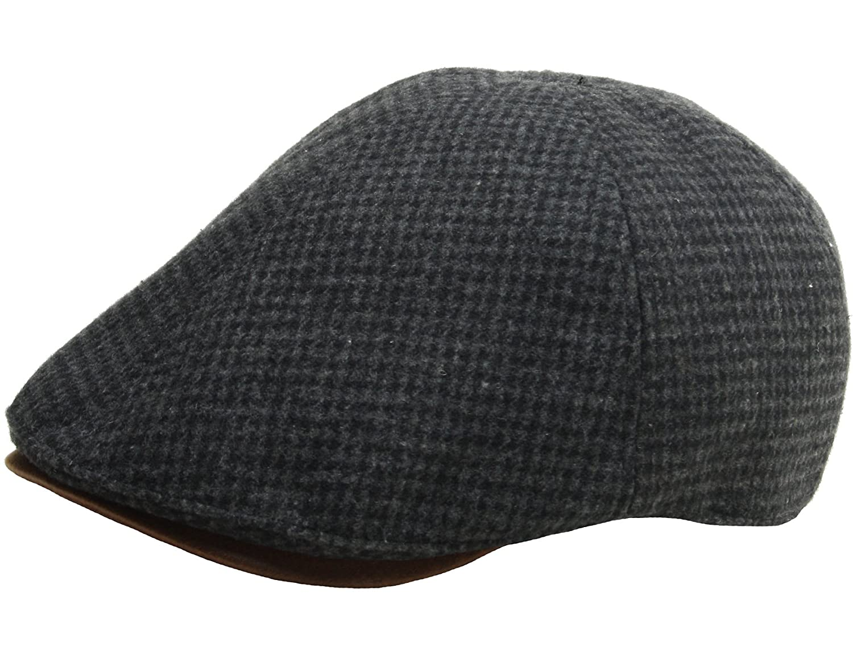 b474e9b0177 N267 Houndstooth Pattern Check Newsboy Cap Cabbie Flat Golf Gatsby Driving  Hat (Black) at Amazon Men s Clothing store