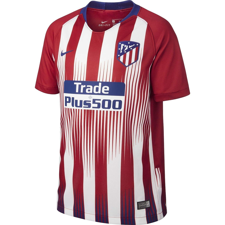 442479f1f Amazon.com : Nike 2018-2019 Atletico Madrid Home Football Soccer T-Shirt  Jersey (Kids) : Clothing
